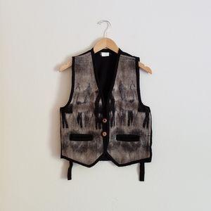 Vintage Ecuadorian Artisan Wool Vest